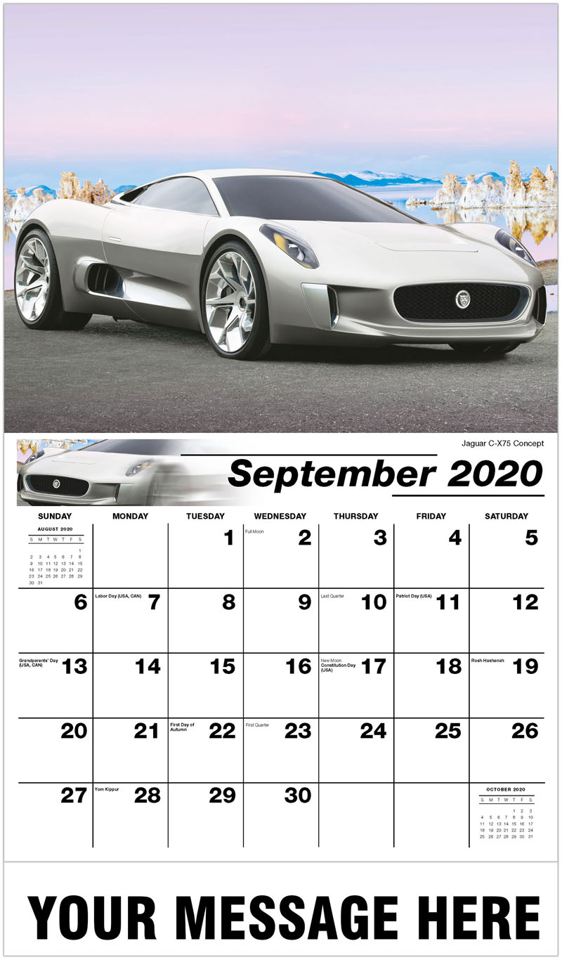 2020 Business Advertising Calendar - Jaguar C-X75 Concept - September