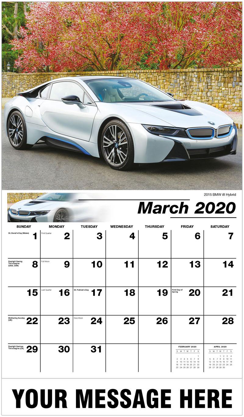 2020 Promo Calendar - 2015 Bmw I8 Hybrid - March