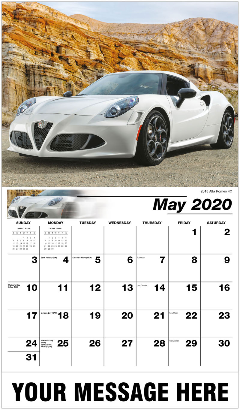 2020 Promo Calendar - 2015 Alfa Romeo 4C - May