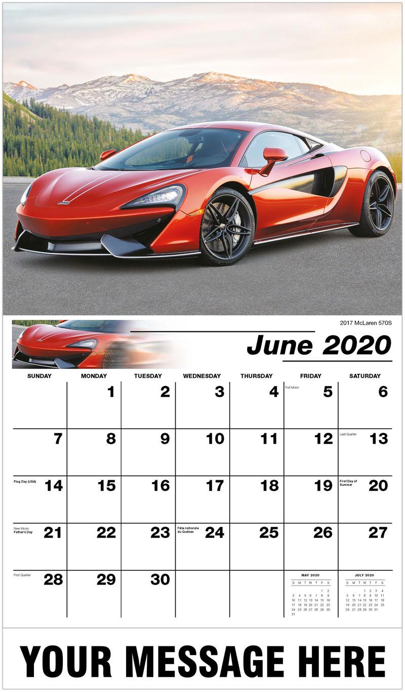 2020 Promo Calendar - 2017 Mclaren 570S - June