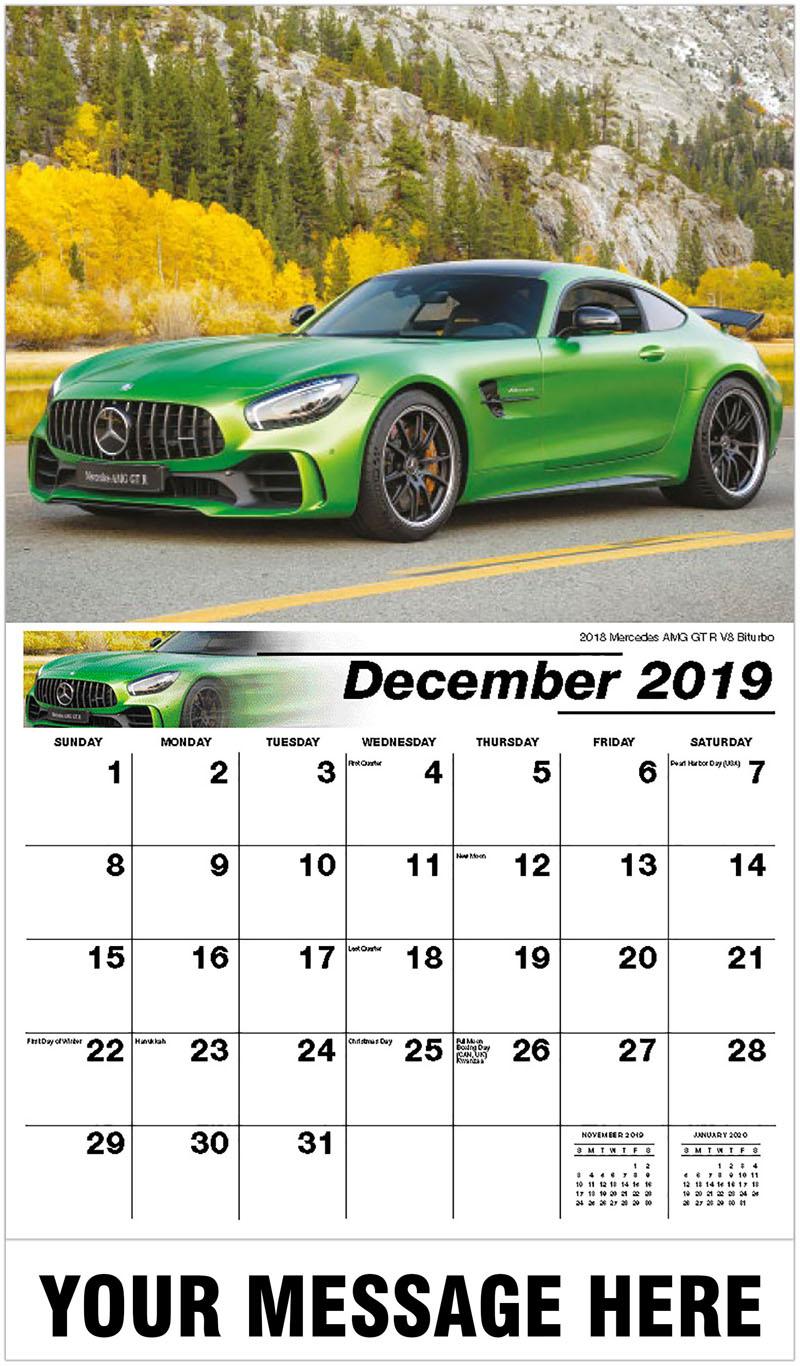 2020 Promotional Calendar - 2018 Mercedes Amg Gt R V8 Biturbo - December_2019