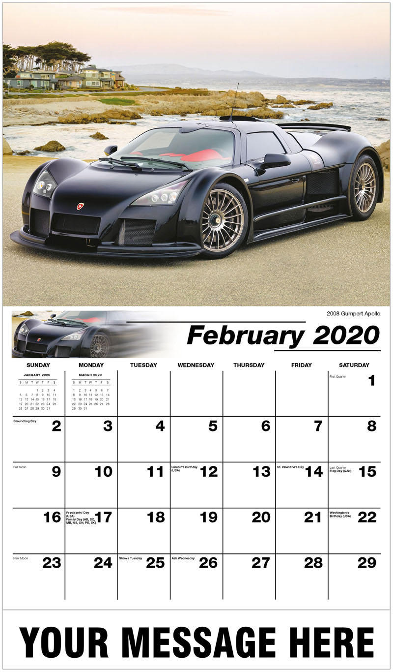 2020 Promotional Calendar - 2008 Gumpert Apollo  - February