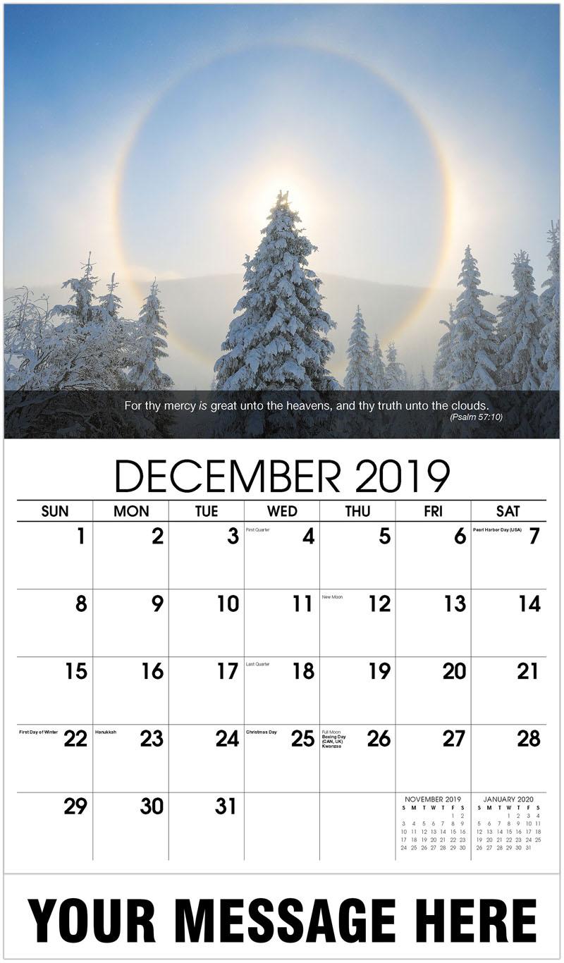 2020 Promo Calendar - Christmas Tree In Winter - December_2019