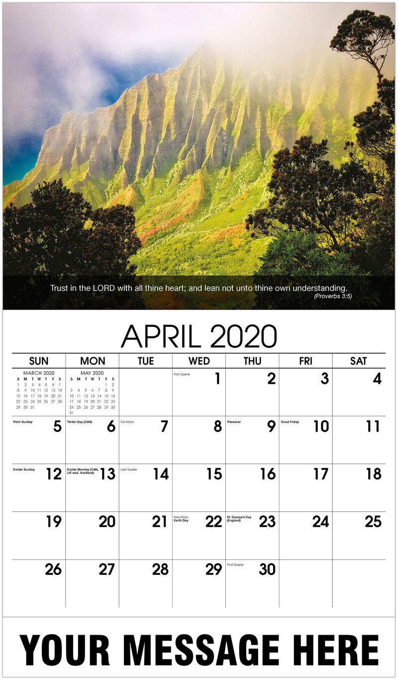 2020 Promotional Calendar - Hawaii - April