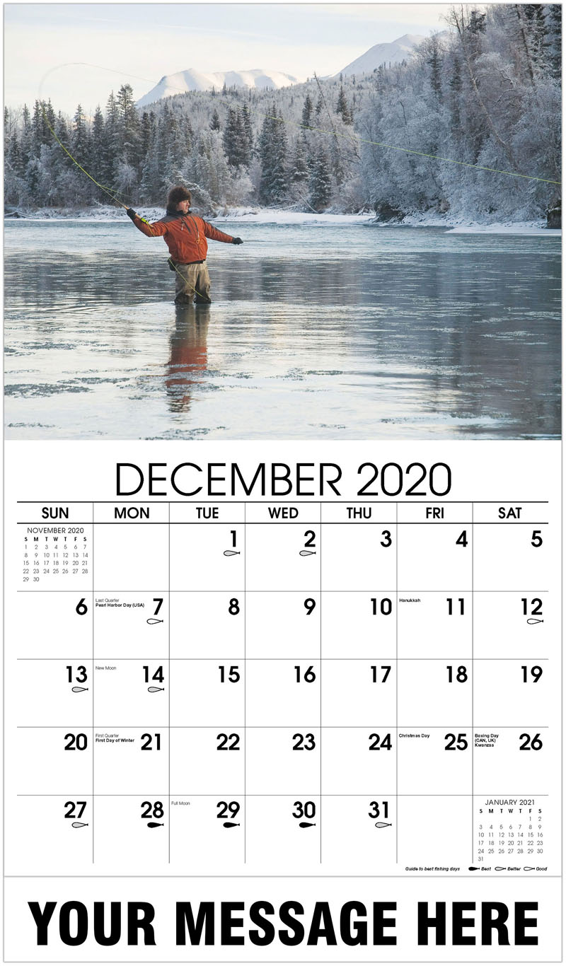 2020 Advertising Calendar - Fly Fishing - December_2020