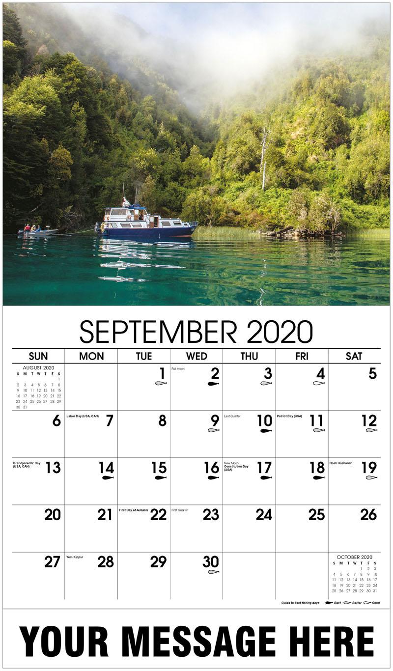 2020 Business Advertising Calendar - Flyfishermen On Live-A-Boat - September