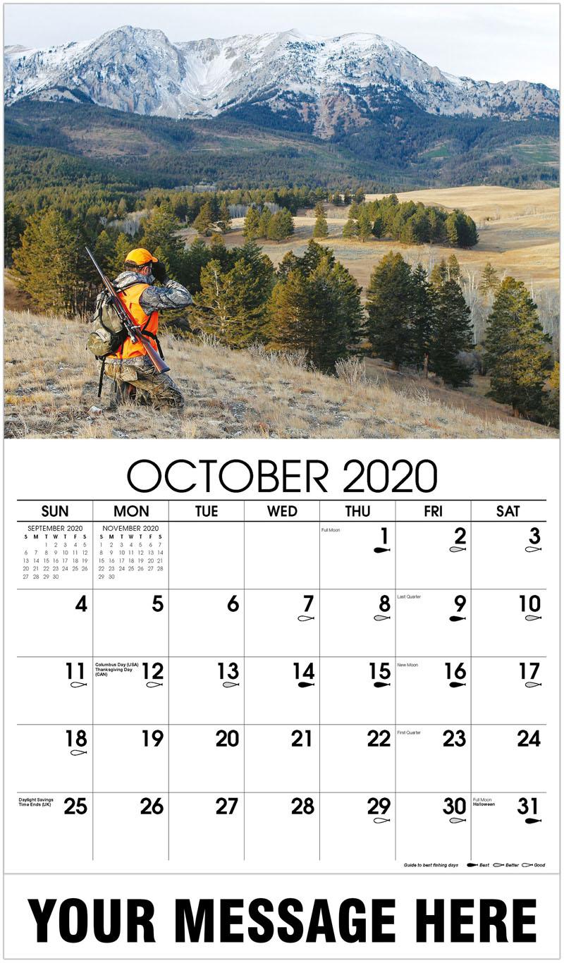 2020 Business Advertising Calendar - Hunter Glassing For Big Game - October