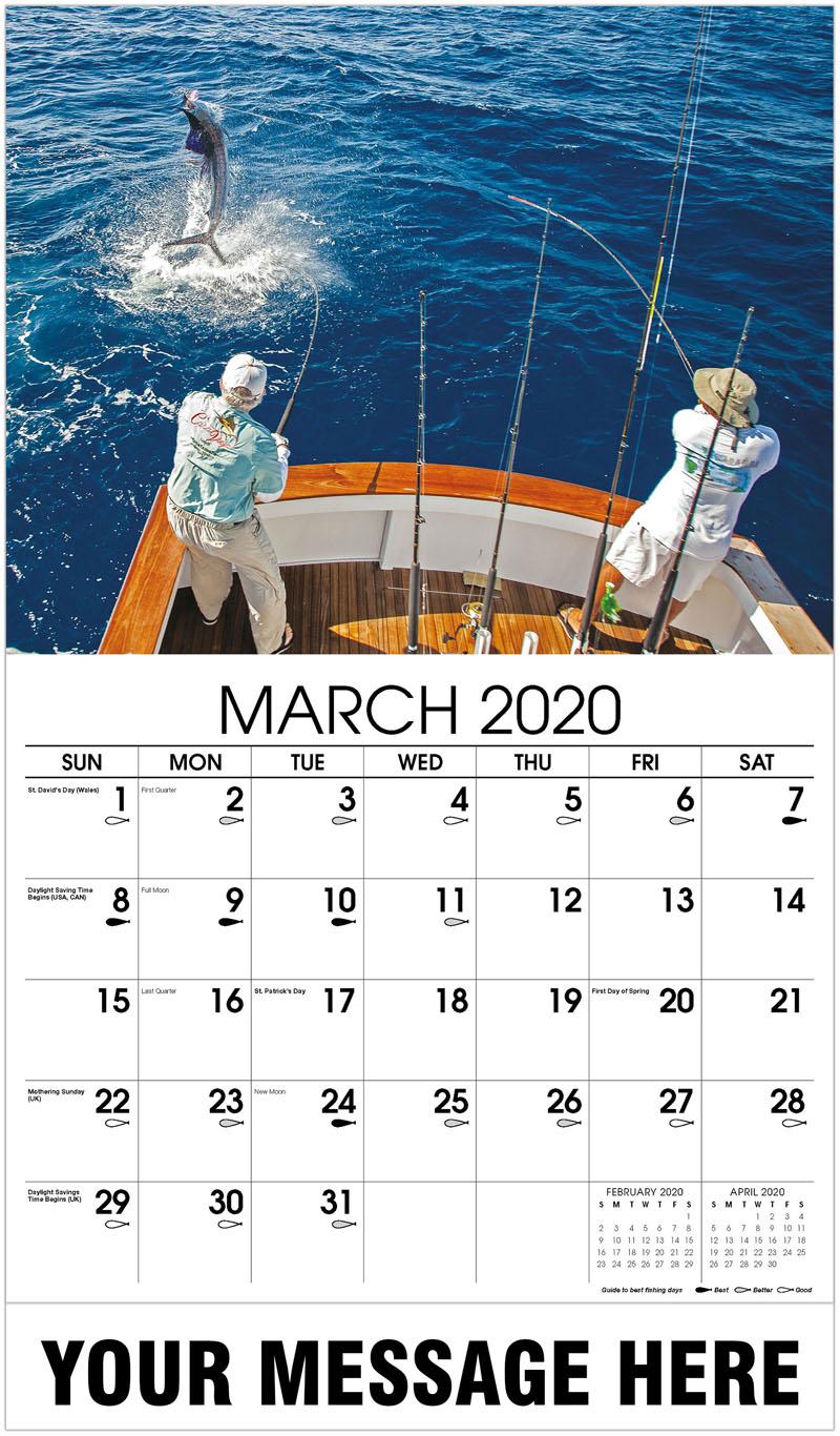 2020 Promo Calendar - Fishermen Fighting With Jumping Sailfish - March