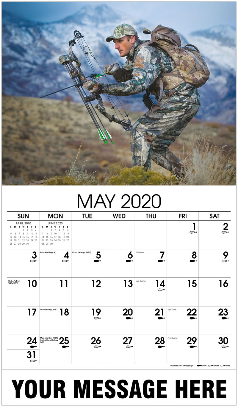 2020 Promo Calendar - Big Game Archery Hunter - May