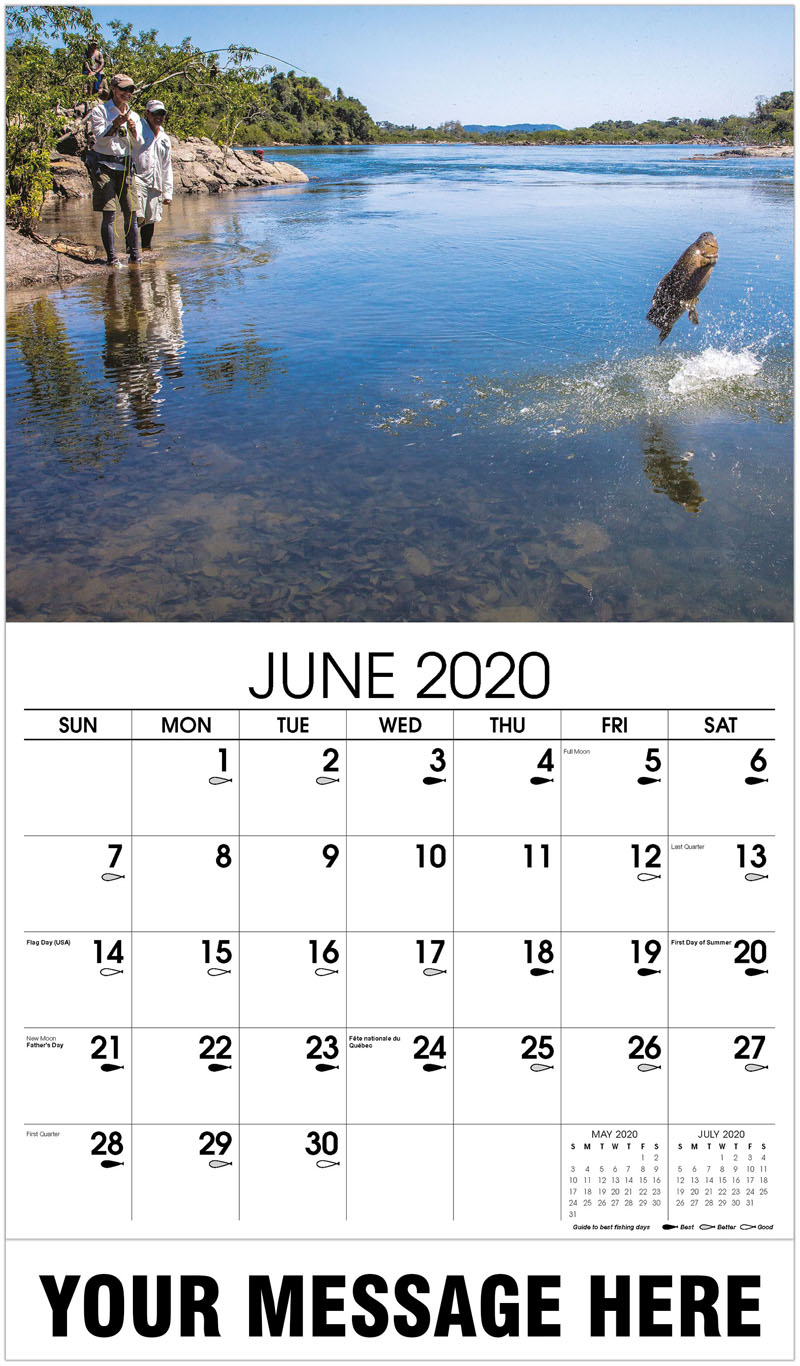2020 Promo Calendar - Flyfisherman Fighting With Wolf Fish - June