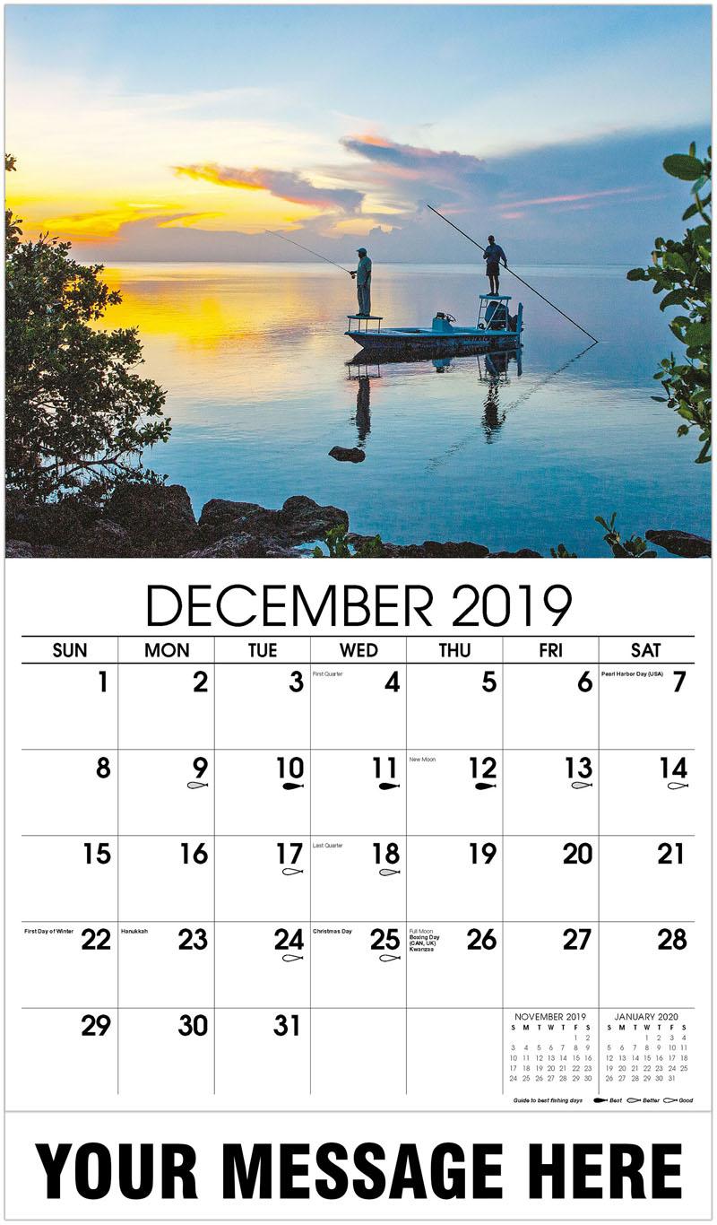 2020 Promotional Calendar - Fisherman On Boat - December_2019