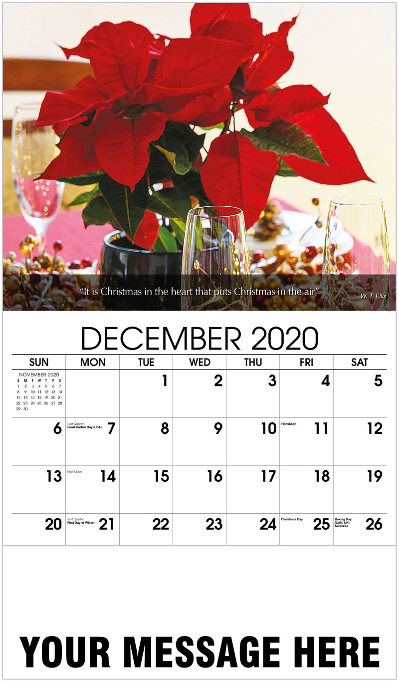 2020 Advertising Calendar - Christmas Table Decoration - December_2020
