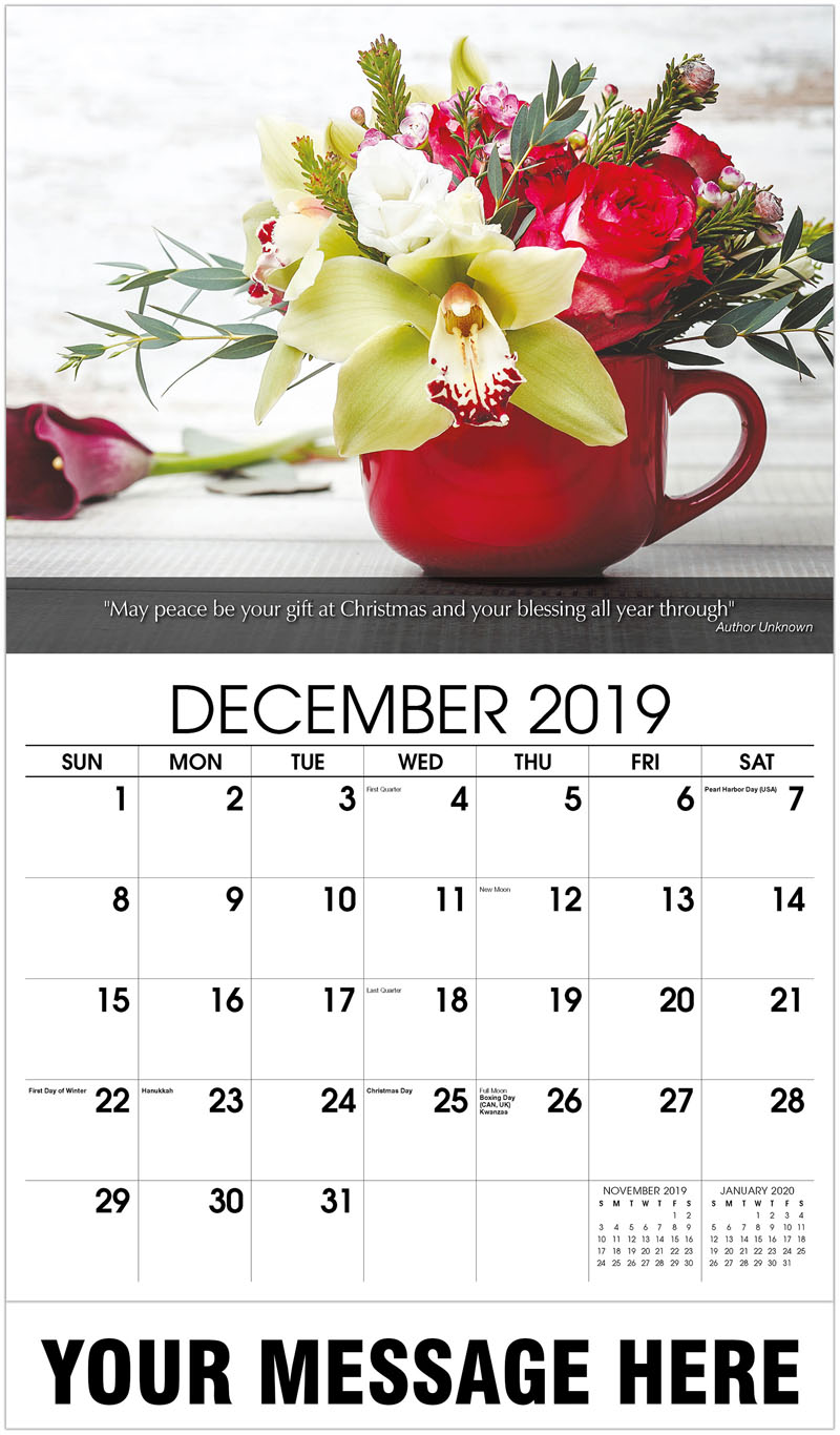2020 Promo Calendar - Flowers In Red Cup - December_2019