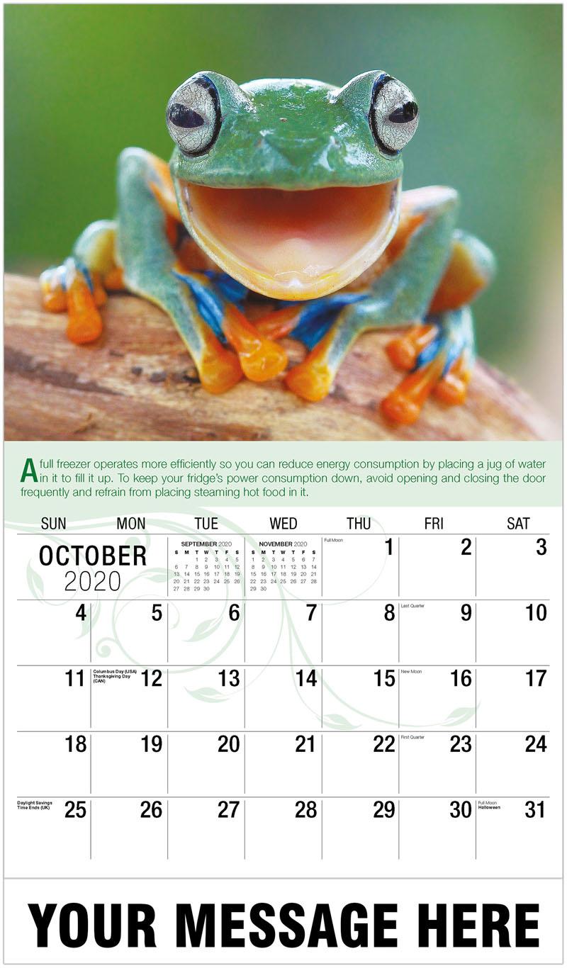 2020 Business Advertising Calendar - Frog - October
