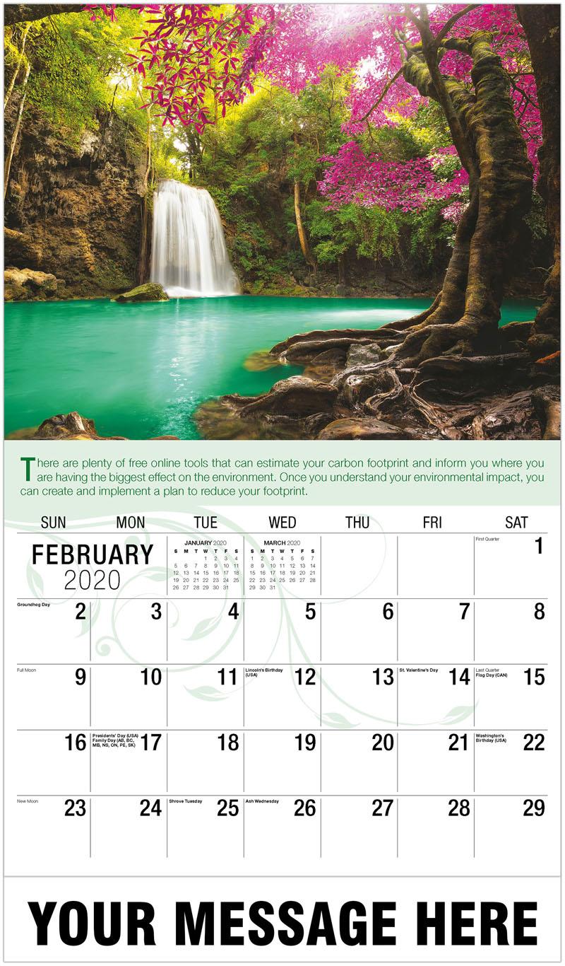 2020 Promo Calendar - Waterfall - February