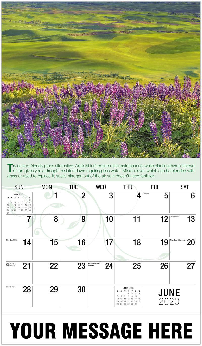 2020 Promotional Calendar - Flowered Meadow - June