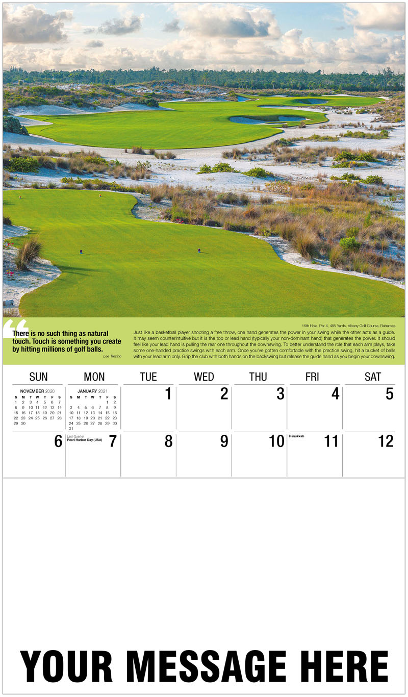 2020 Advertising Calendar - 17Th Hole, Par 4, 446 Yards, Mountain Course At La Quinta Resort & Club, California : 17Th Hole, Par 4, 446 Yards, Mountain Course At La Quinta Resort & Club, California - December_2020