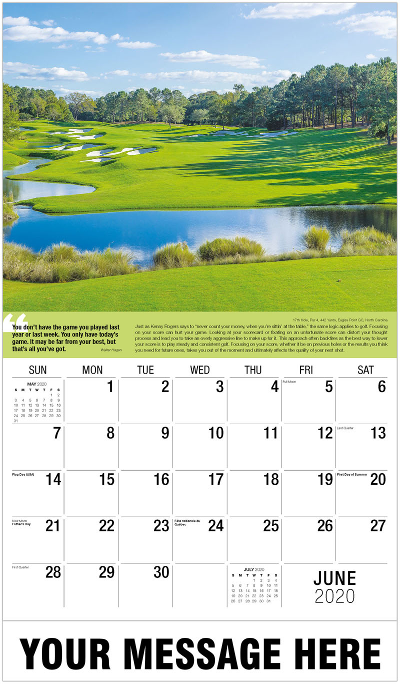 2020 Promotional Calendar - 7Th Hole, Par 5, 513 Yards, Eunhwasam Cc, South Korea : 7Th Hole, Par 5, 513 Yards, Eunhwasam Cc, South Korea - June