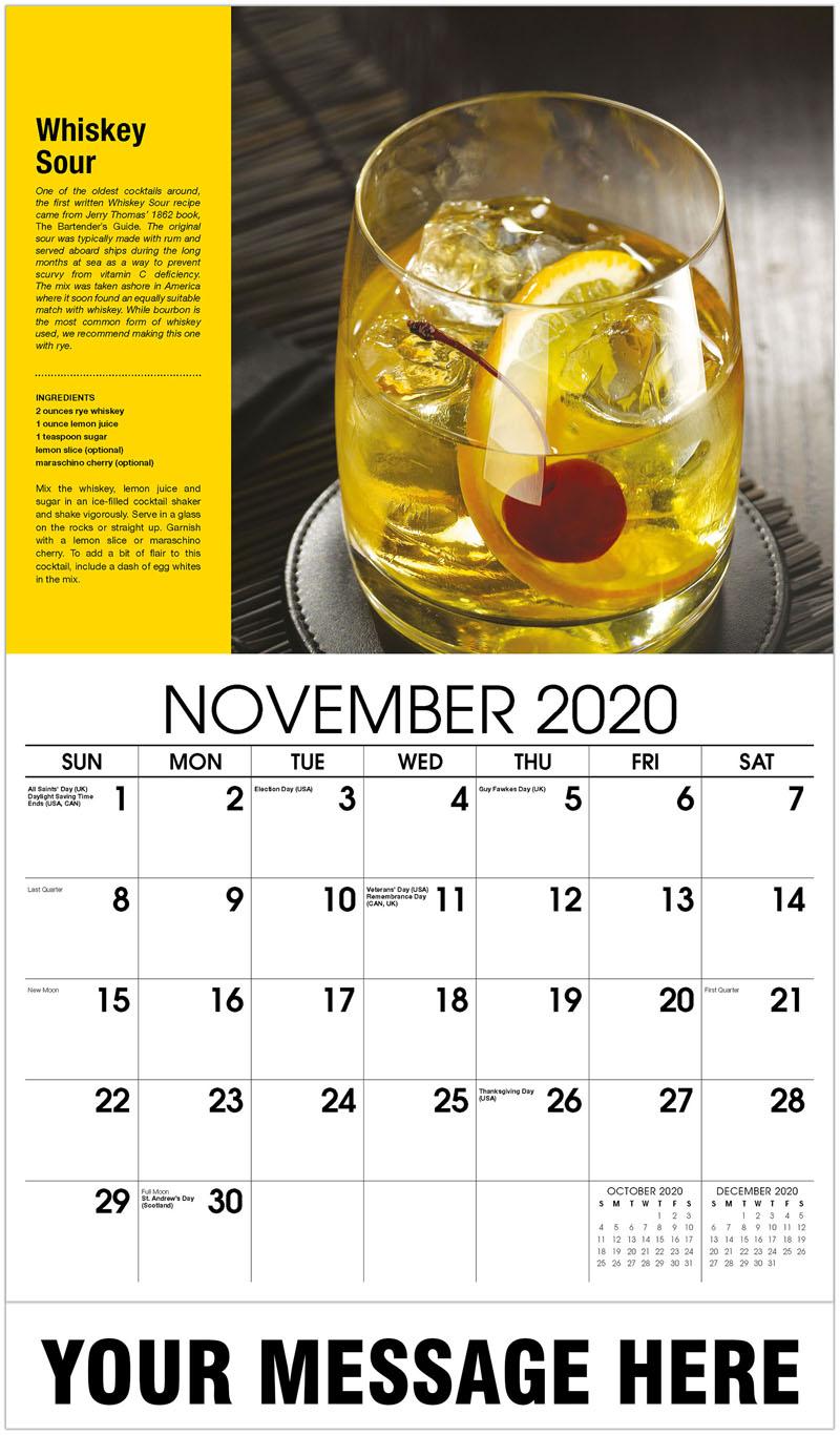 2020 Advertising Calendar - Whiskey Sour - November
