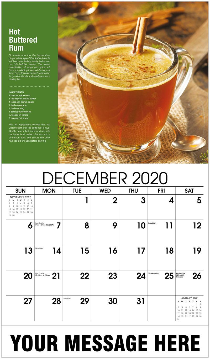 2020 Advertising Calendar - Hot Buttered Rum - December_2020