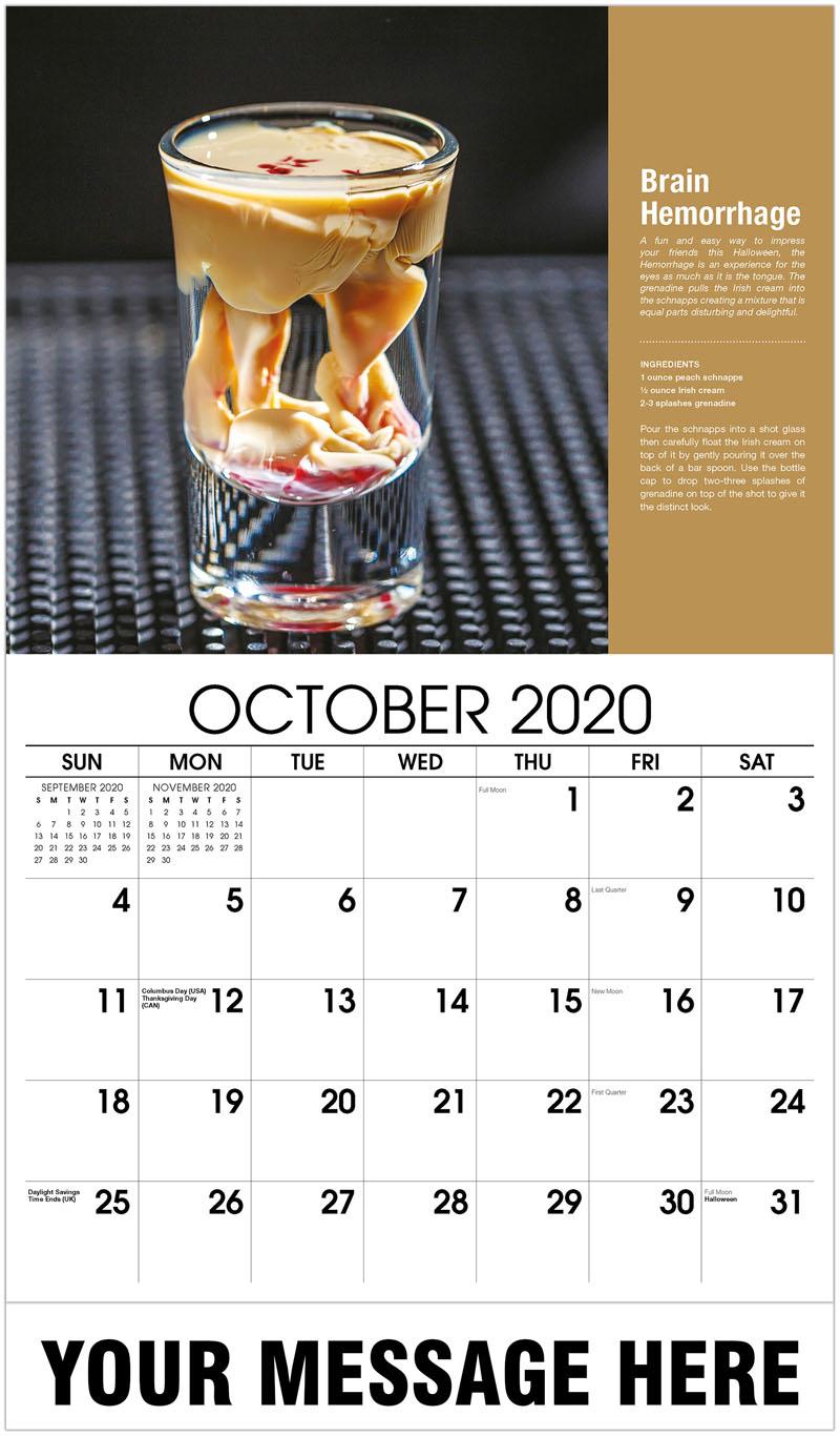 2020 Business Advertising Calendar - Alien Brain Hemorrhage - October
