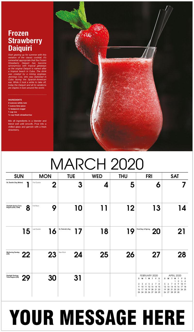 2020 Promo Calendar - Strawberry Daiquiri - March