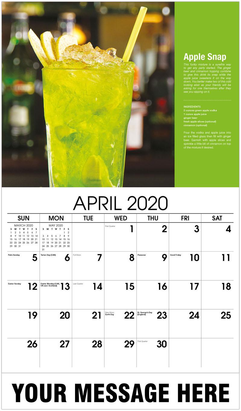2020 Promo Calendar - Apple Snap - April