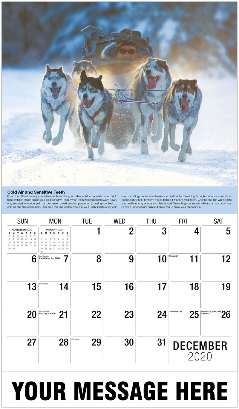 2020 Advertising Calendar - Dog Sled - December_2020