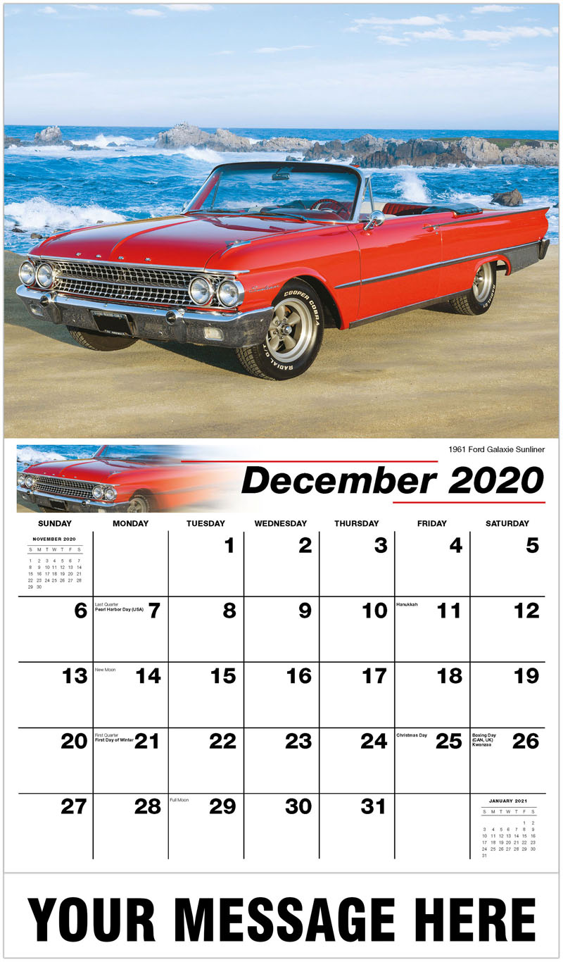 2020 Advertising Calendar - 1961 Ford Galaxie Sunliner - December_2020