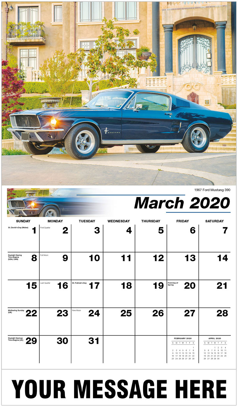 2020 Promo Calendar - 1967 Ford Mustang 390 - March