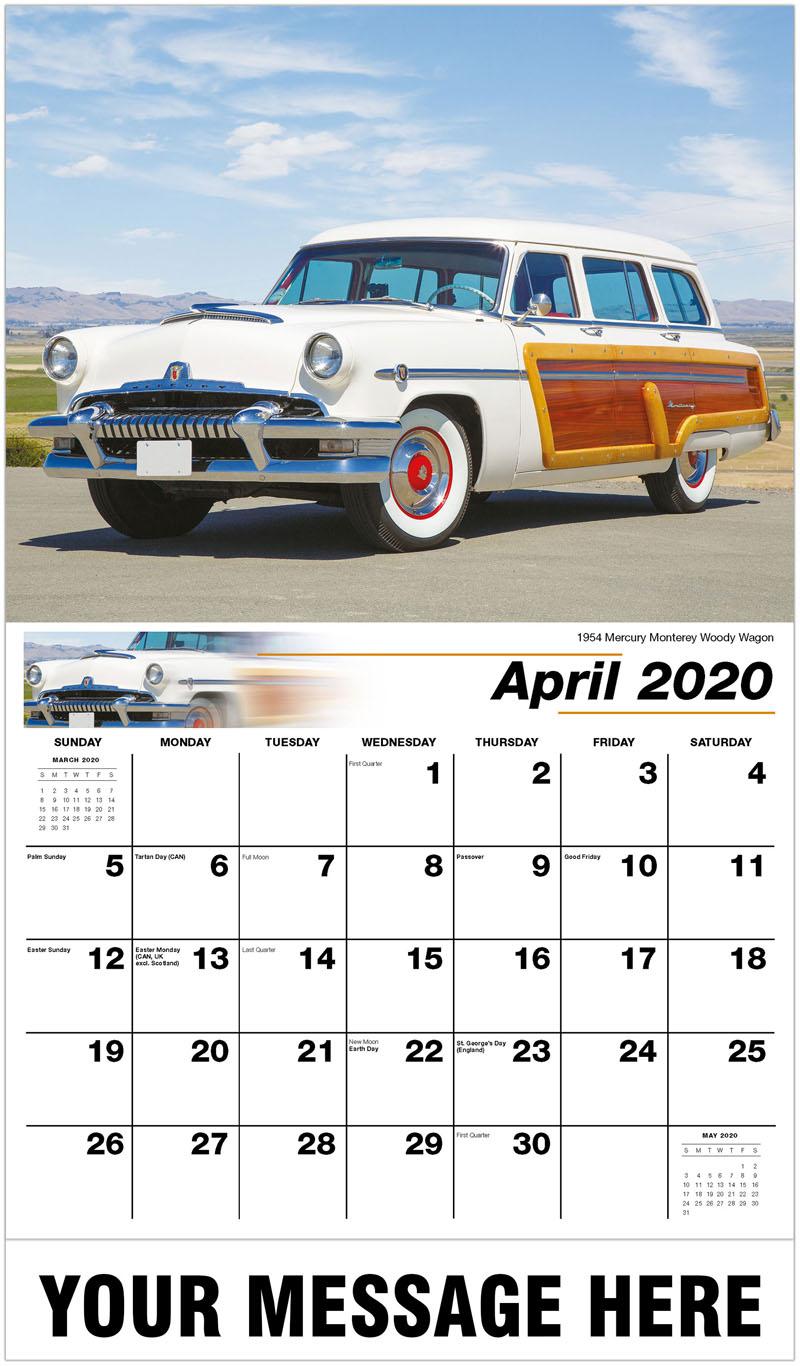 2020 Promo Calendar - 1954 Mercury Monterey Woody Wagon - April