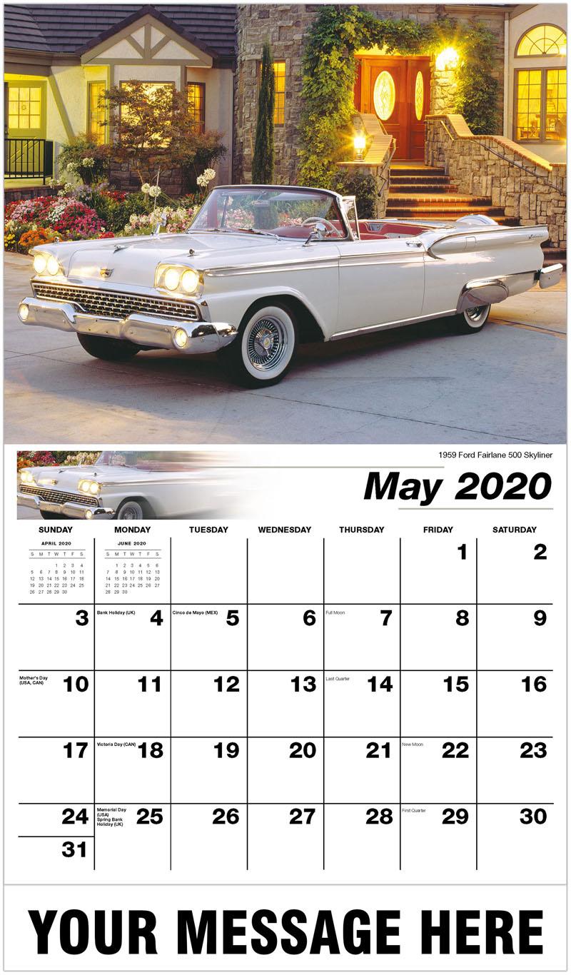 2020 Promo Calendar - 1959 Ford Fairlane 500 Skyliner - May