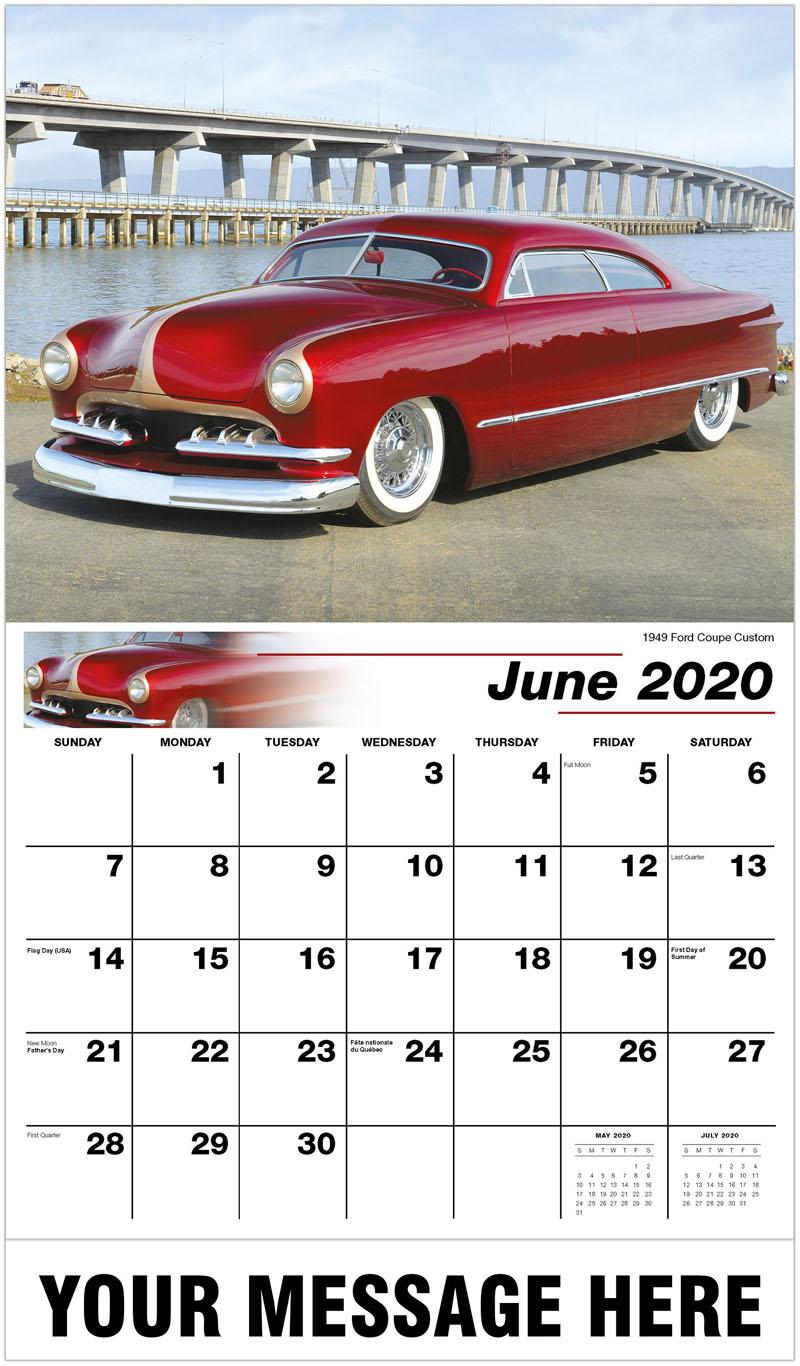 2020 Promo Calendar - 1949 Ford Coupe Custom - June