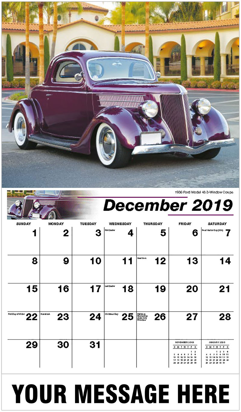 2020 Promotional Calendar - 1936 Ford Model 48 3-Window Coupe - December_2019