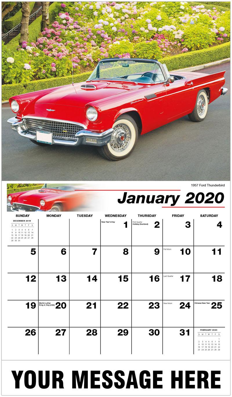 2020 Promotional Calendar - 1957 Ford Thunderbird - January