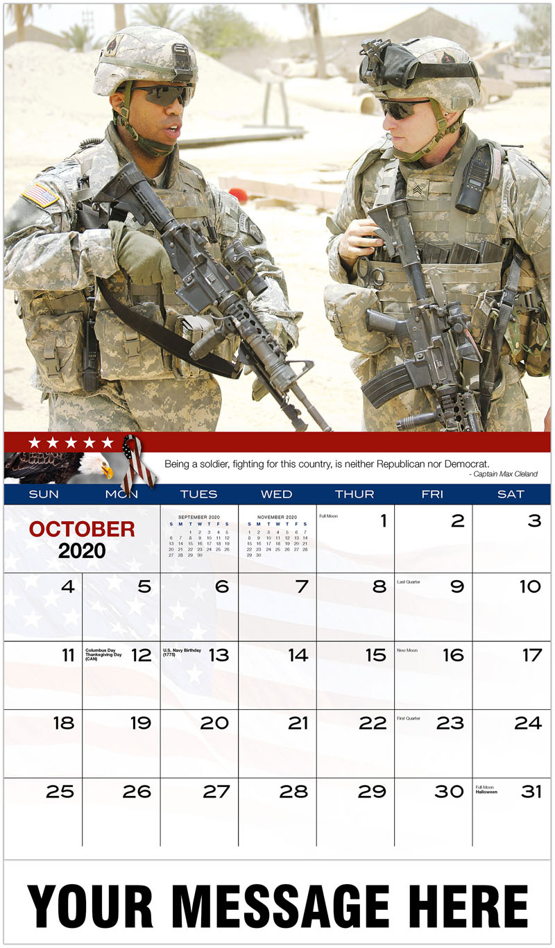 2020 Promo Calendar - Two Soldiers - October