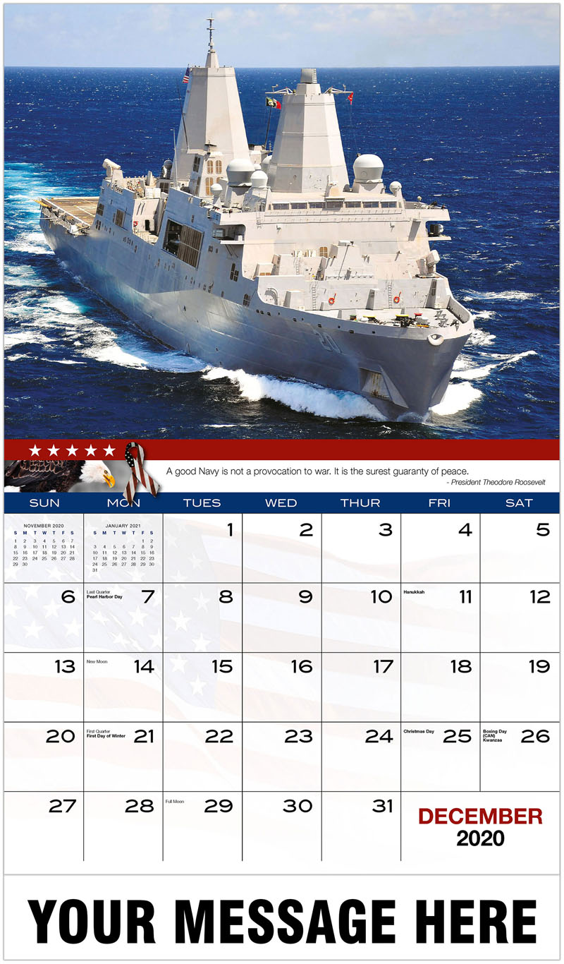 2020 Promo Calendar - Navy Ship - December_2020