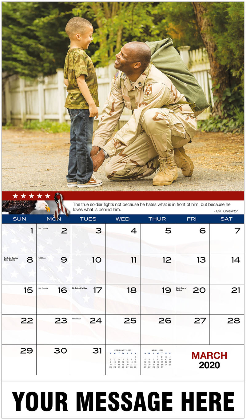 2020 Promotional Calendar - Man With Kid - March