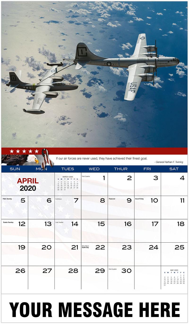 2020 Promotional Calendar - Planes Refuelling - April