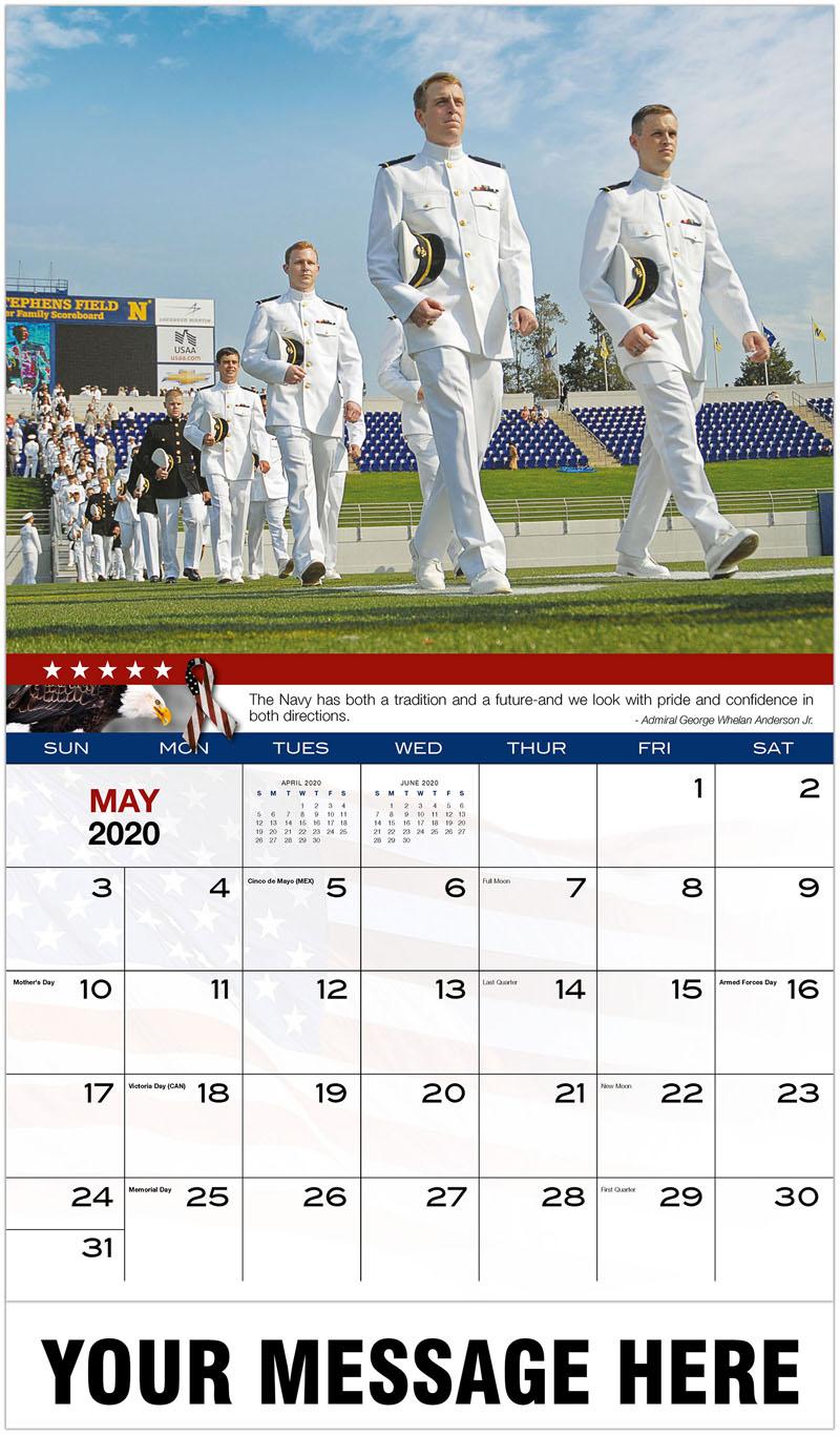 2020 Promotional Calendar - Navy Graduation - May