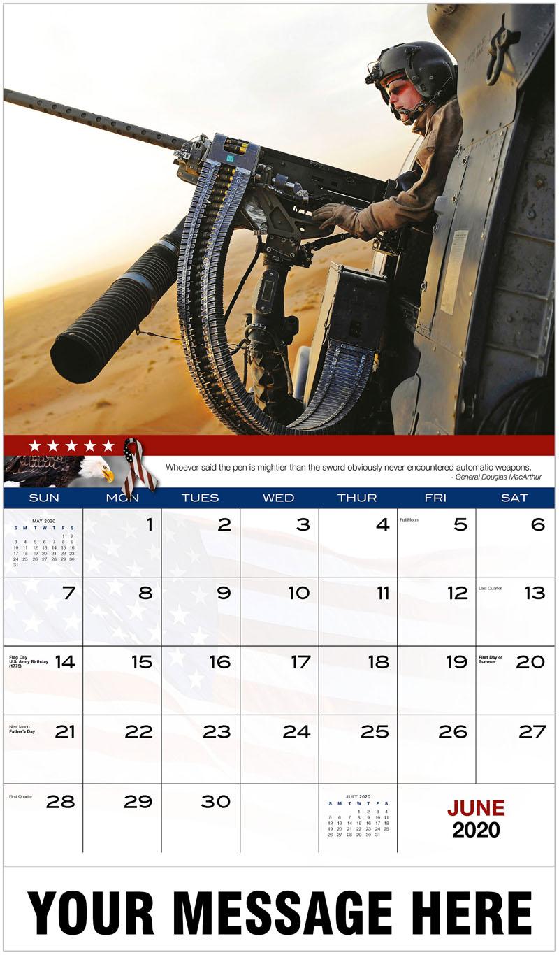 2020 Promotional Calendar - Machine Gun Helicopter - June