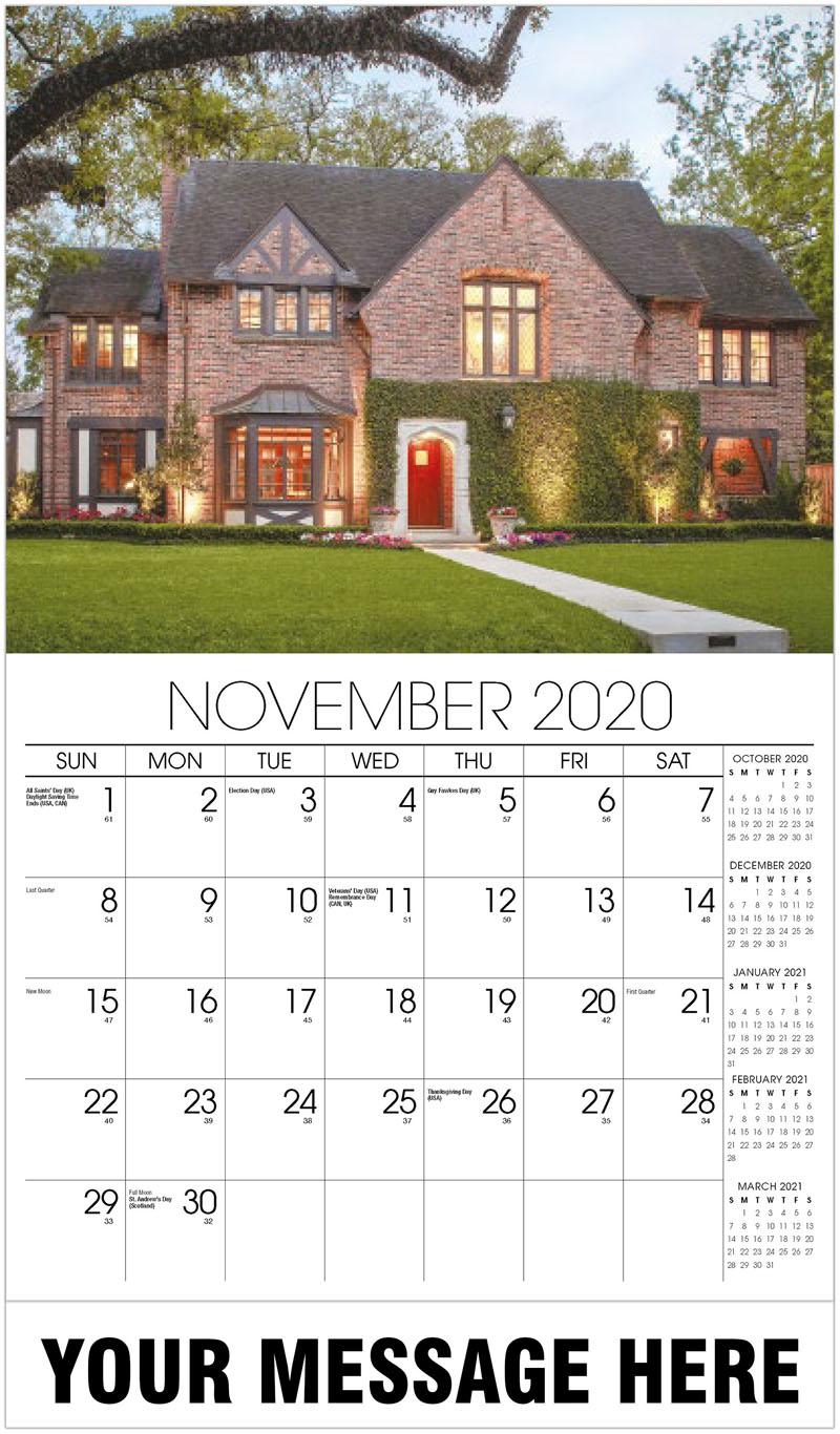 2020 Promo Calendar - Brick House At Dusk - November