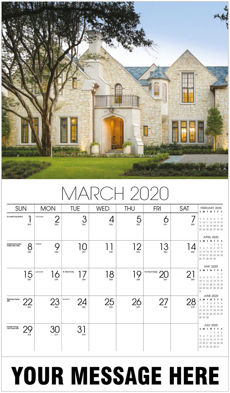 2020 Promotional Calendar - Luxury Stone House - March