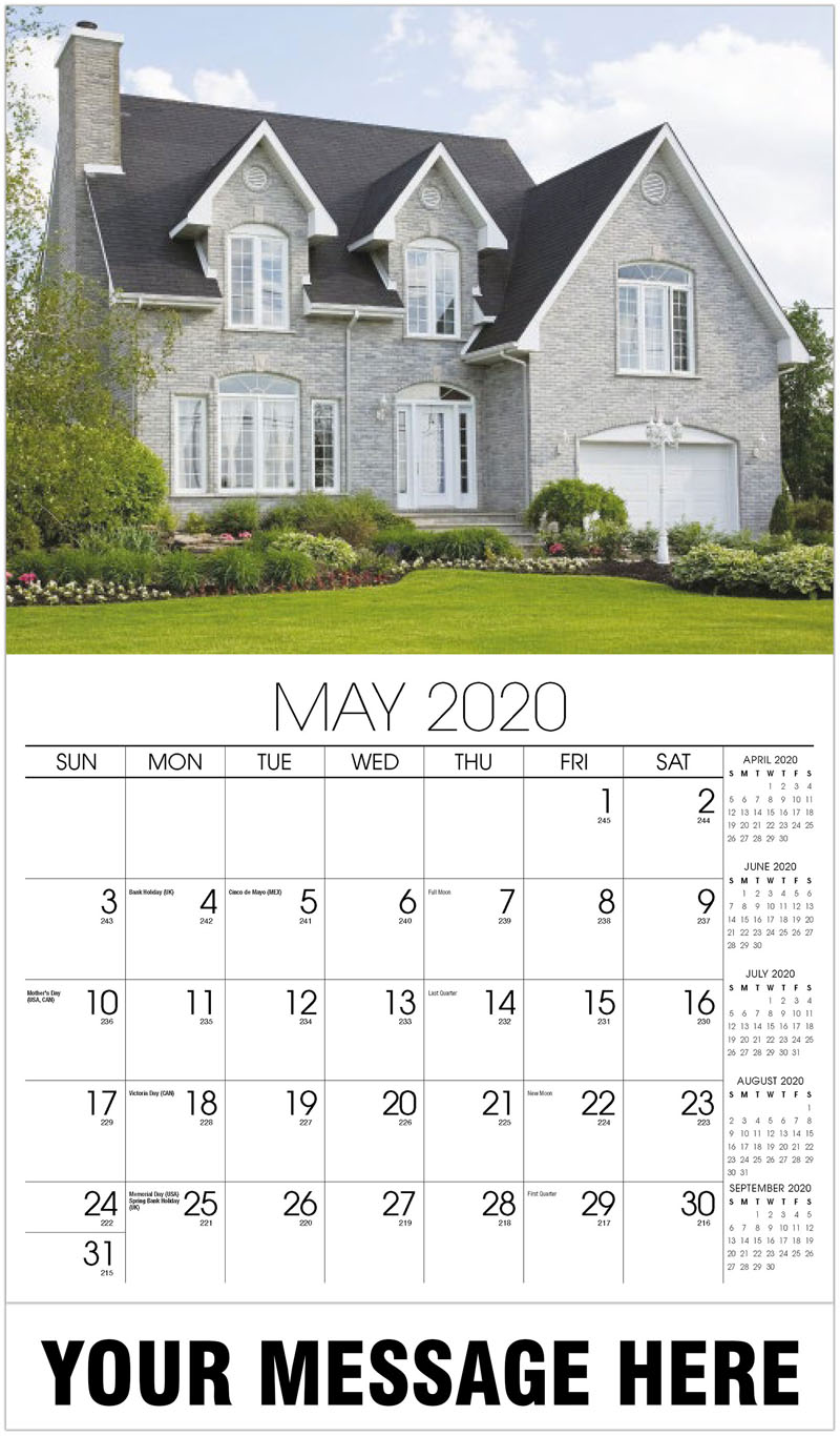 2020 Promotional Calendar - White Brick House - May