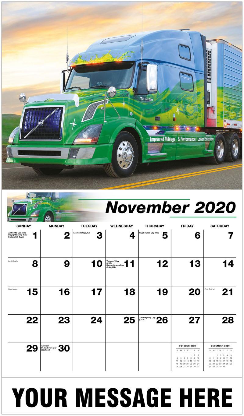2020 Advertising Calendar - 2007 Volvo 780 - November
