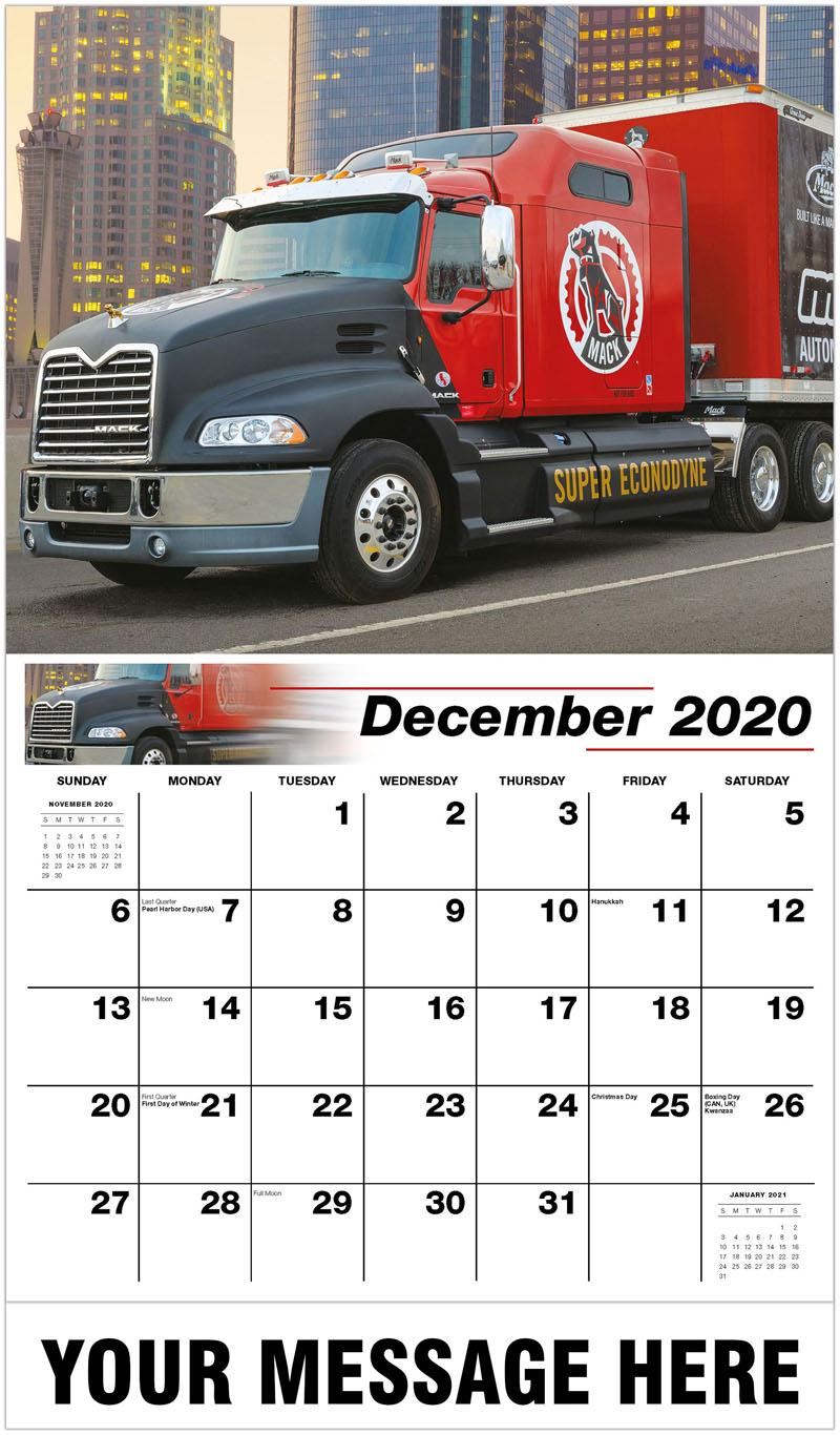 2020 Advertising Calendar - 2013 Mack Pinnacle Mdrive - December_2020