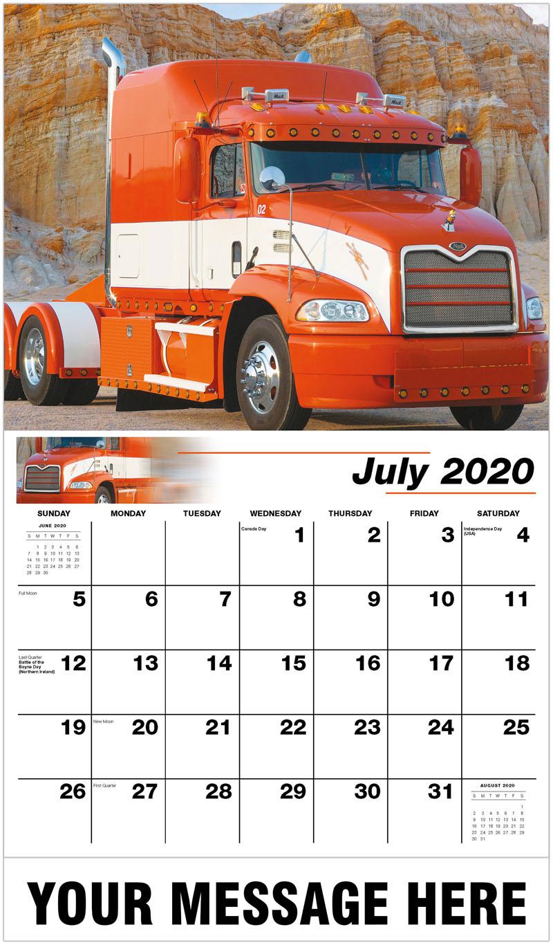 2020 Business Advertising Calendar - 2001 Mack - July