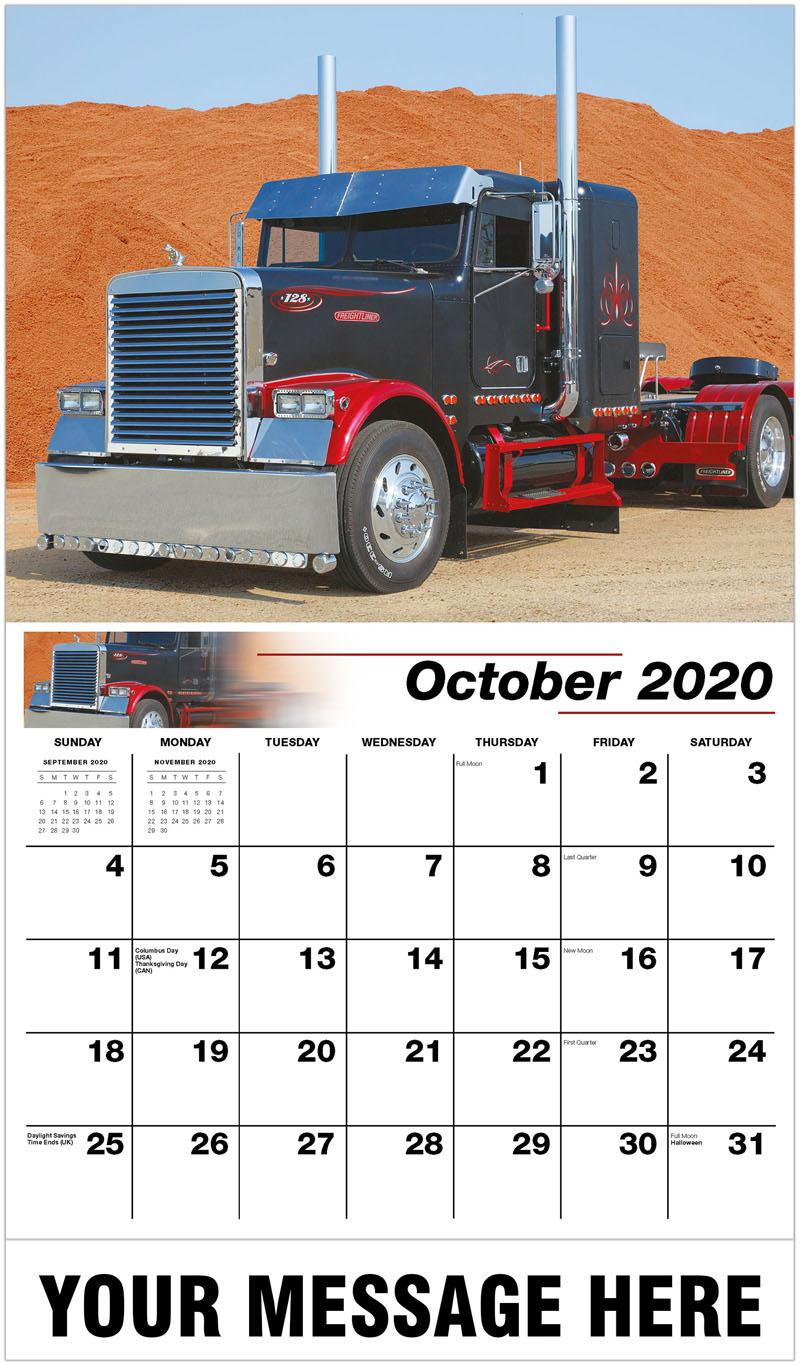 2020 Business Advertising Calendar - 1988 Freightliner Flc - October