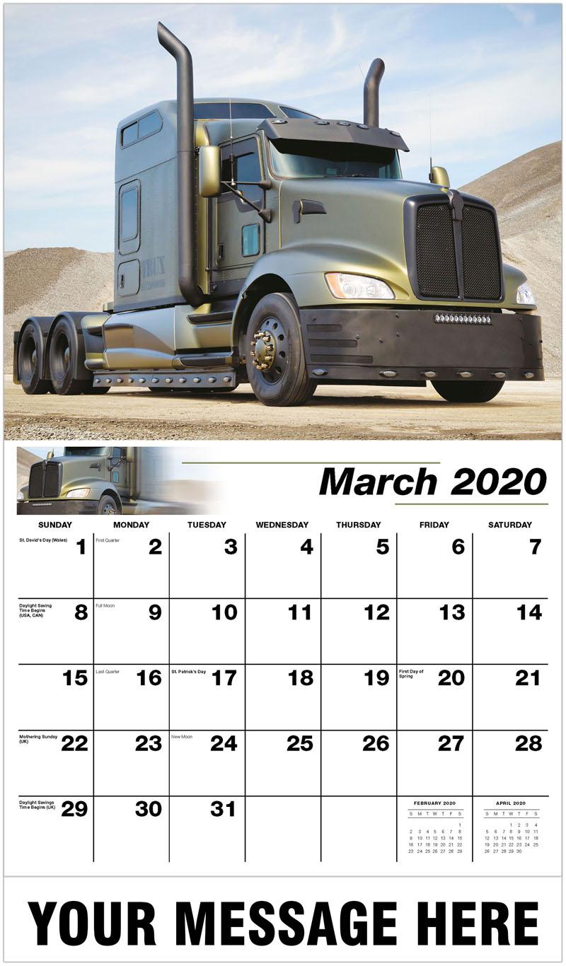2020 Promo Calendar - 2014 Kenworth T660 Custom - March