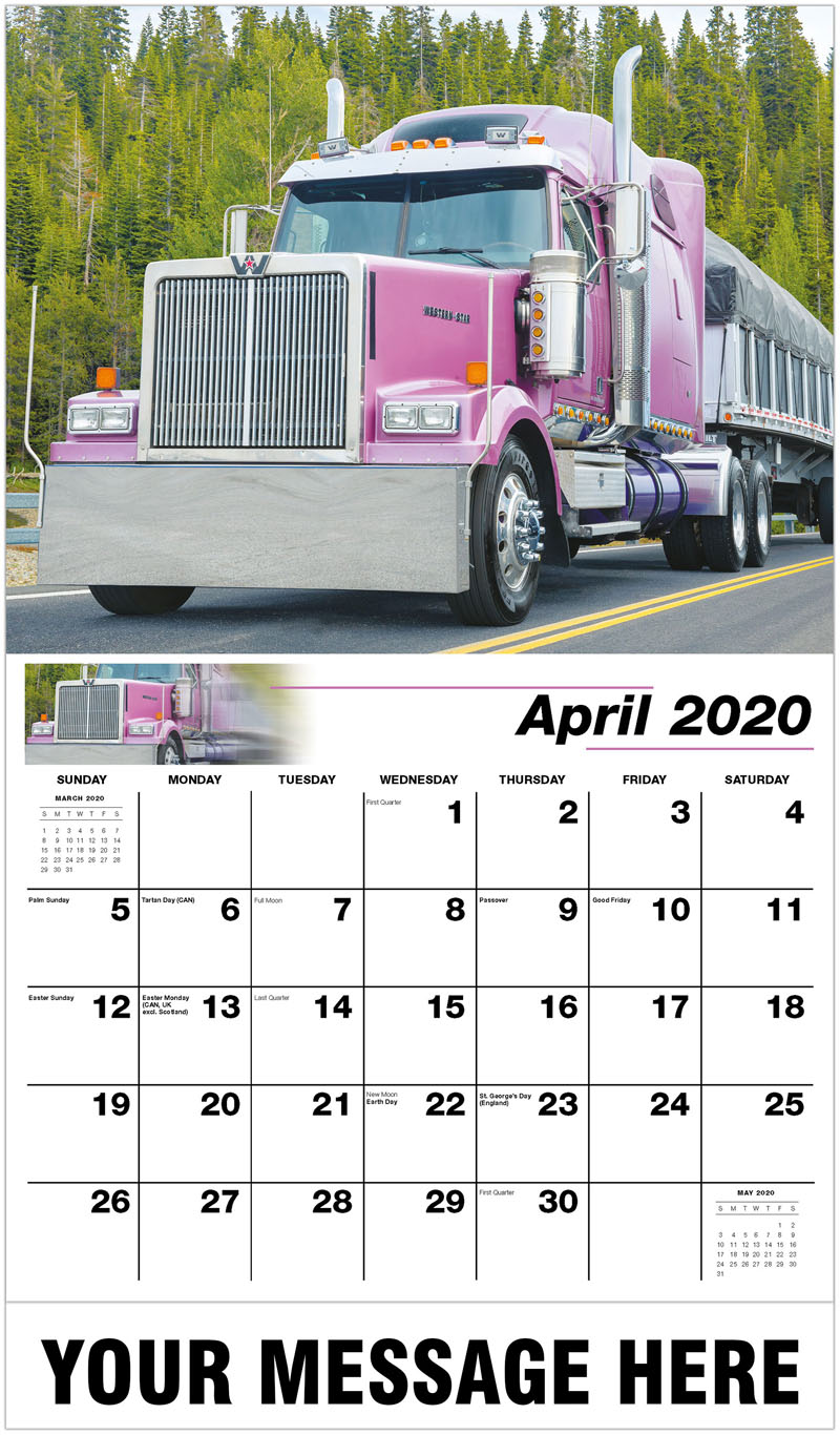 2020 Promo Calendar - 2016 Western Star 4900 - April